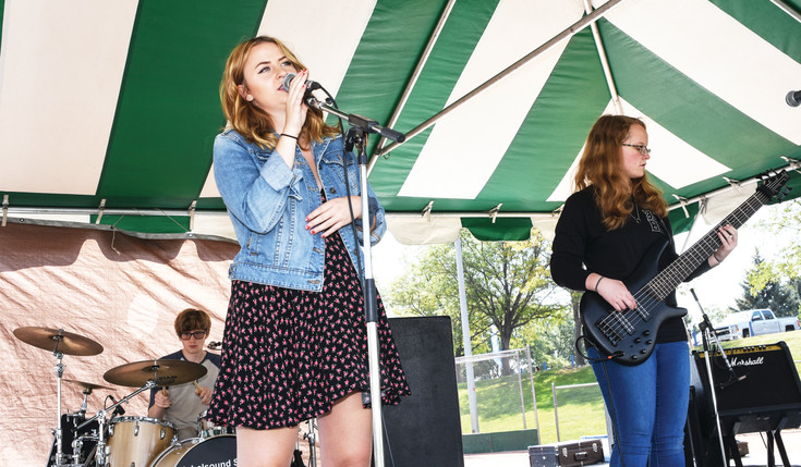 "Several members of the band ""Obliviate"" entertain during Thornton Harvest Fest, held Sept. 9, at Thornton Community Park."