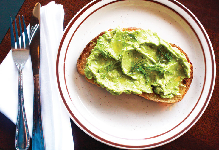 Avocado toast is one of the lighter dishes on the Steuben's Arvada breakfast menu.