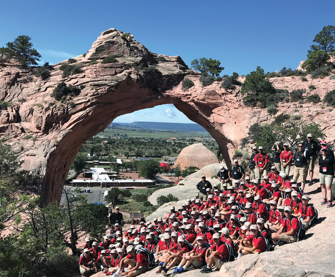 Youth members of the Mountain View Young Marines in Franktown traveled to Window Rock, Ariz., to honor the Navajo Code Talkers from WWII.