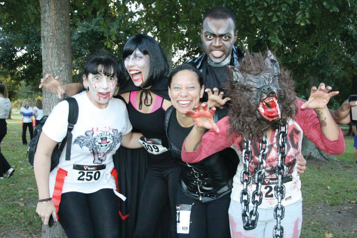 Runners and vampires get scary for the 2012 Vampire 5K in Littleton. The 2017 event, hosted by Lauren and Scott Jones on Sept. 30 at Flat Acre Farms in Parker, will feature up to 500 runners and vampires to raise money for Bonfils Blood Center.