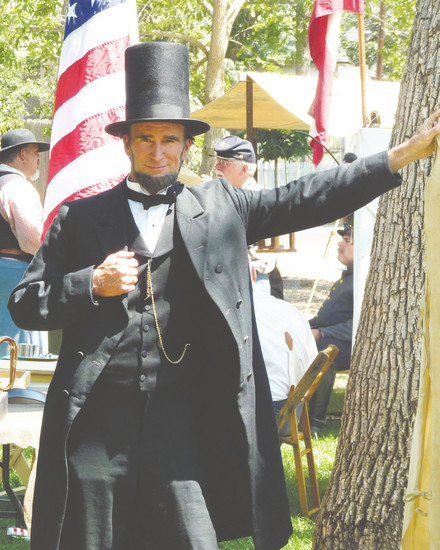 Retired aerospace engineer John Voehl is a dedicated Abraham Lincoln presenter. COURTESY PHOTO BY DONALD HANSEN