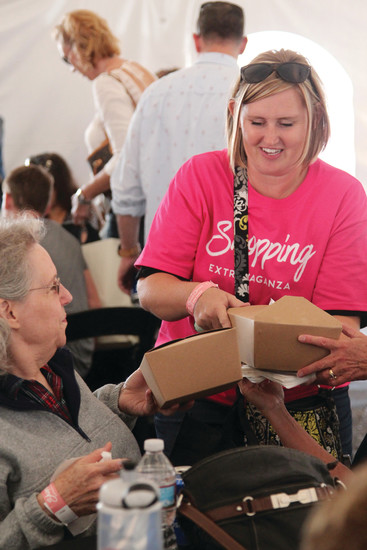 Volunteers were on hand to assist shoppers throughout the day on Sept. 16.