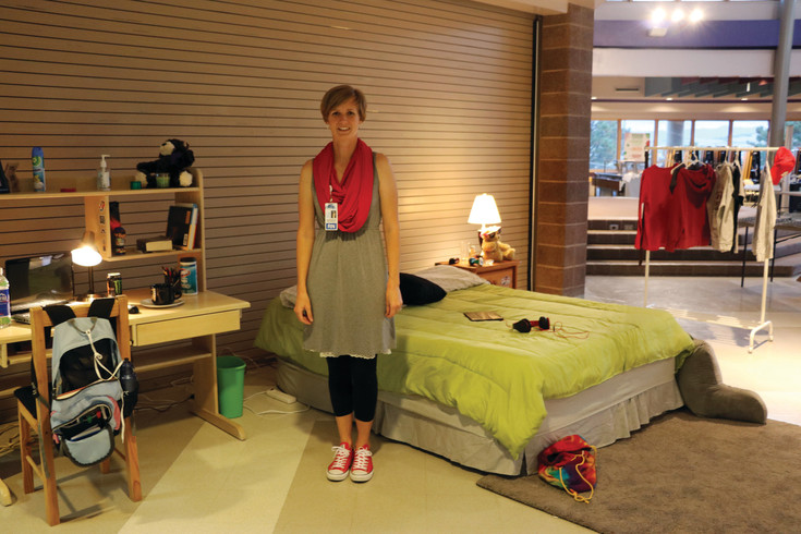 "Allison Strawn, a nurse at Douglas County High School, spearheaded a Sept. 14 Substance Use Resource Fair, which included a mock bedroom with more than 80 indicators of drug and alcohol use. ""We want our kids to have that conversation beforehand,"" she said of substance use among teens."