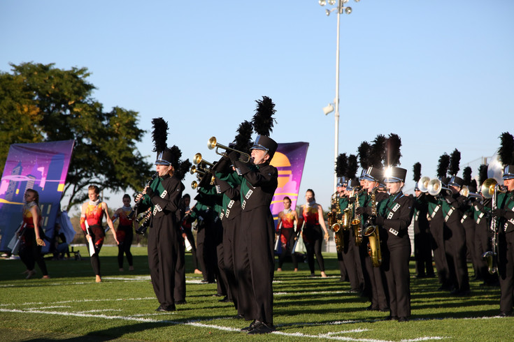The D'Evelyn High marching band placed first in the 2A division of the Jeffco Marching Band Festival Sept. 19.
