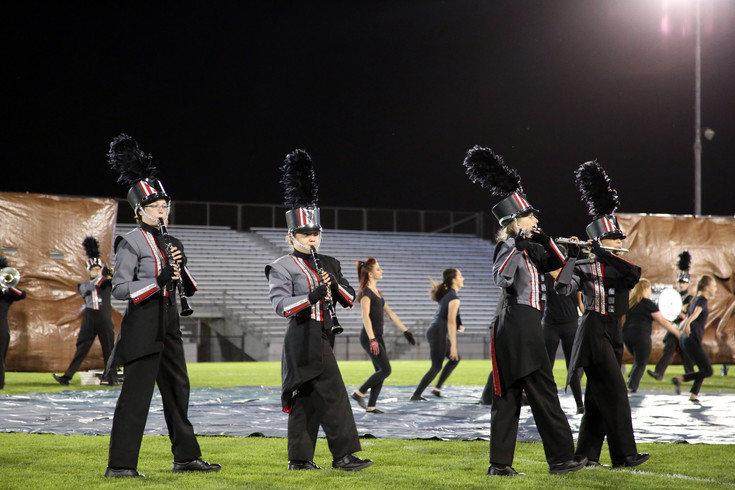 The Pomona High marching band placed fourth in the 4A division of the Jeffco Marching Band Festival Sept. 19.