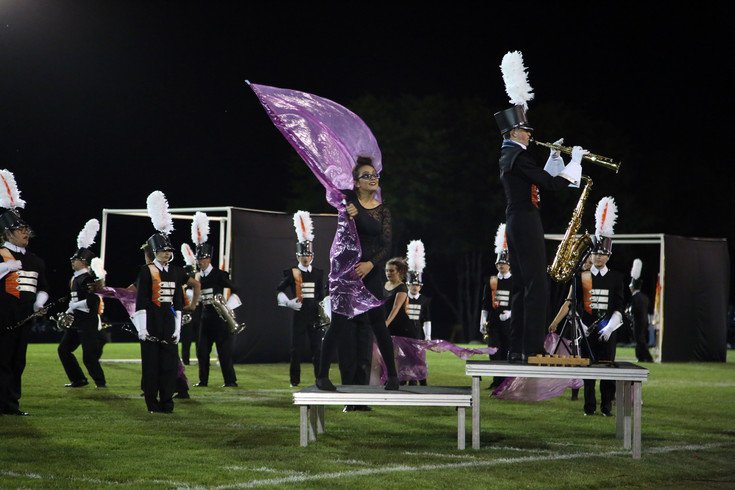 The Lakewood High marching band was the final performance of the night.