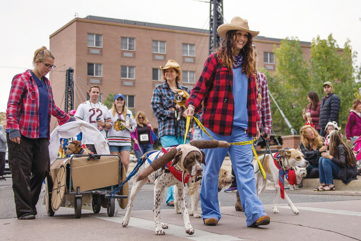 The second annual Toby's Pet Parade & Fair, on Sept. 16, drew a crowd of nearly 1,500 people and 165 dogs dressed up in their best and most creative costumes, including this Wild West team.