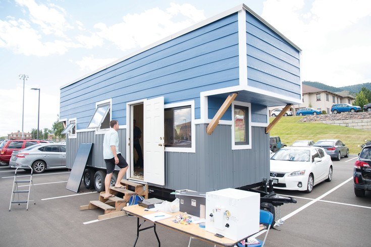 The Mines Tiny Home, a net-zero, 220-square-foot dwelling being built by students attending the Colorado School of Mines will be on display at the Sustainability Expo part of the U.S. Department of Energy's Solar Decathlon, which this year takes place Oct. 5-9 and Oct. 12-15.