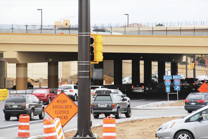 The interchange at Interstate 25 and East Arapahoe Road remained under construction Sept. 25. Major traffic impacts will be done by the end of the year, Colorado Department of Transportation officials said.