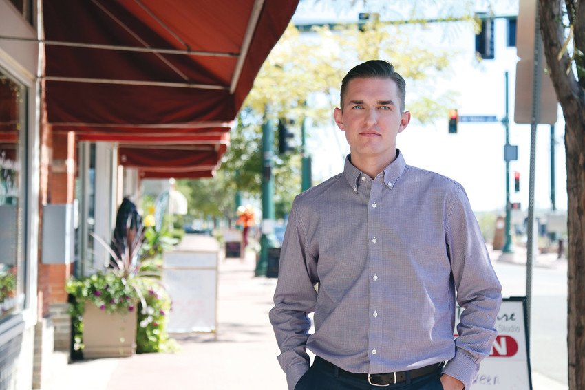 Nathan Bishop is the first executive director of the Olde Town Arvada Business Improvement District.
