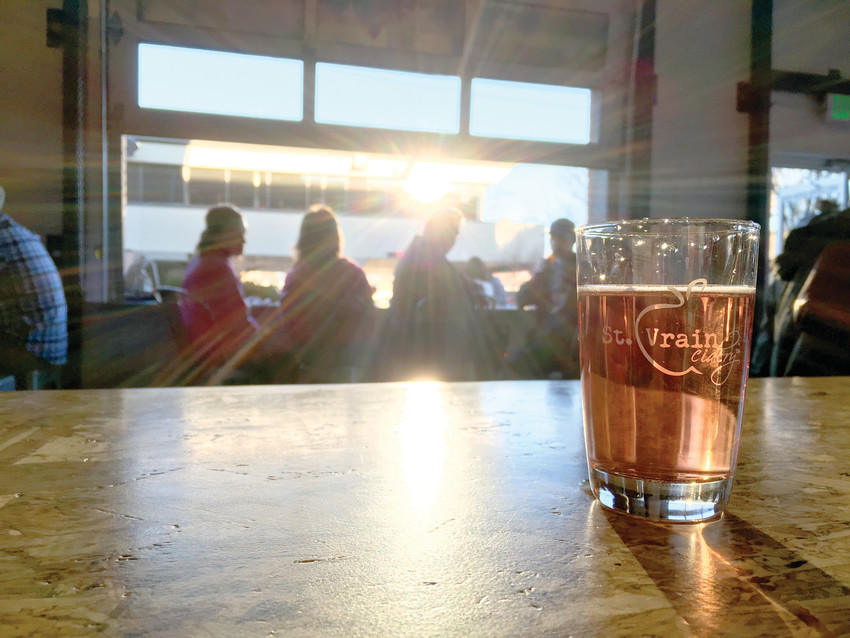 St. Vrain Cidery in Longmont was started by three friends, and offers 24 different hard ciders on its taps.