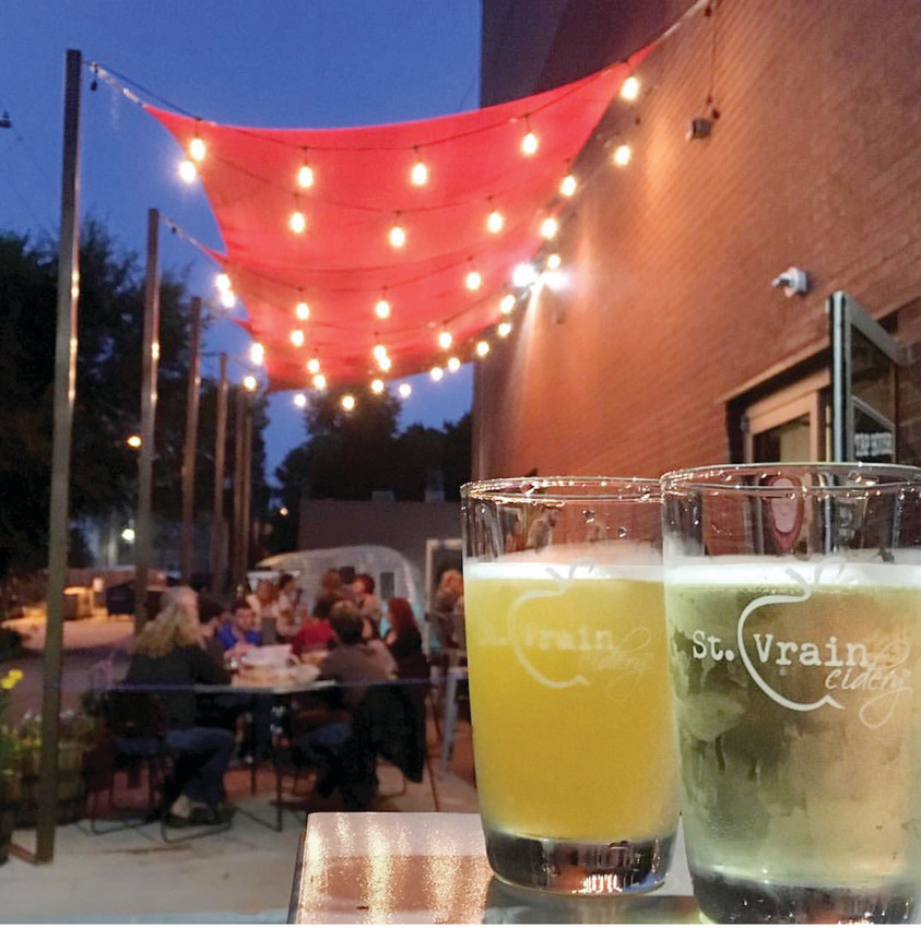 "St. Vrain Cidery hosts food trucks, community fundraisers, live music and ""Restorative CiderYoga"" to its Longmont location."