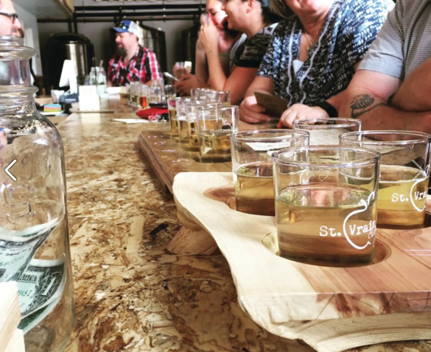 Some of the 24 hard ciders on tap at Longmont's St. Vrain Cidery include Dry Apple, Honeycrisp, Habanero Lime and Sour Cherry.