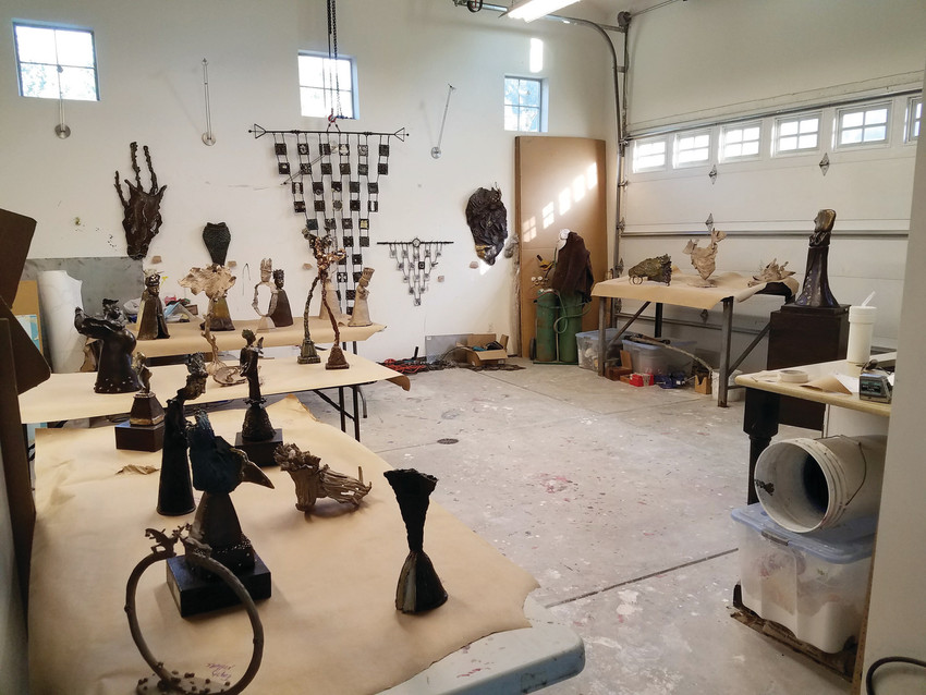 "Sculptor Kim Kaminski's Littleton Studio is the source for her works exhibited in ""Procession of Spirit"" at the Littleton Museum."