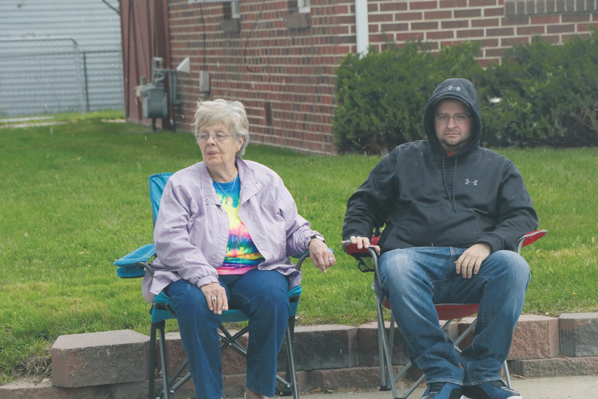 Sherry Swanson Beianzi, a 1957 EHS graduate, and her son have ringside seats at