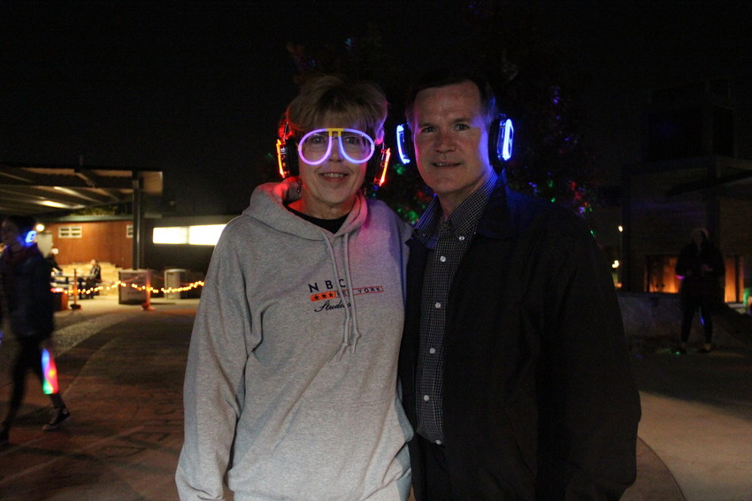 Mayor Cathy Noon and her husband Jim at the teen silent disco at Centennial Center Park Oct. 6. The event was the first time the city put on a silent disco, officials said.
