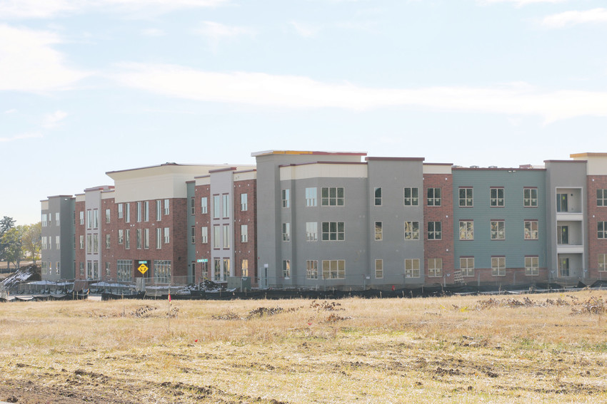 Some of the apartments under construction at the former Green Gables golf course location at Wadsworth and Jewell.