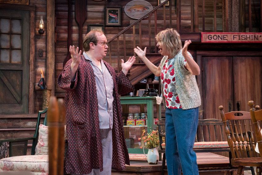 "Betty Meeks (Edith Weiss) is so excited to have an actual foreigner, Charlie Baker (Sammie Joe Kinnett), as a guest at her Georgia fishing lodge in ""The Foreigner,"" which plays through Nov. 18 at the Arvada Center."