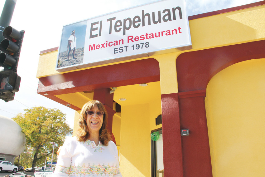 El Tepehuan owner Graciela Corral stands outside of her restaurant on its reopening day Oct. 16. Several customers who ate at the old restaurant location came to eat on the reopening day, some of whom said hello and had conversations.