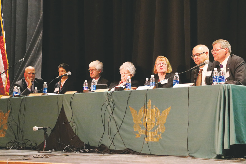 The Colorado Supreme Court visits Mountain Vista High School on Oct. 16 as part of Courts in the Community, an educational program created by the Colorado Supreme Court and Court of Appeals on Law Day, May 1, in 1986.