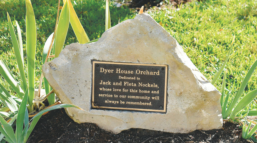 The Brauns planted an orchard, and dedicated the space to previous owners Jack and Fleta Knockels, who they credit for saving the house from being torn down.