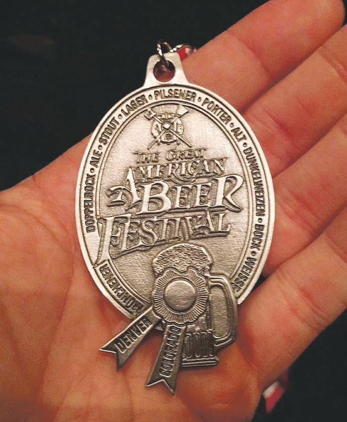 The Silver medal won by Arvada's Odyssey Beerwerks for their Woods Monk at this year's Great American Beer Festival. Courtesy photo