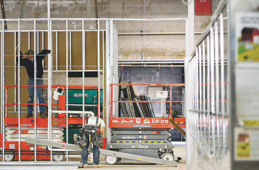 Construction work continues Oct. 18 at Local Food Market, a new grocery store scheduled to open this year at 72nd Avenue and Sheridan Boulevard in Westminster. The city again extended a deadline to open for the store to receive a sales tax rebate.