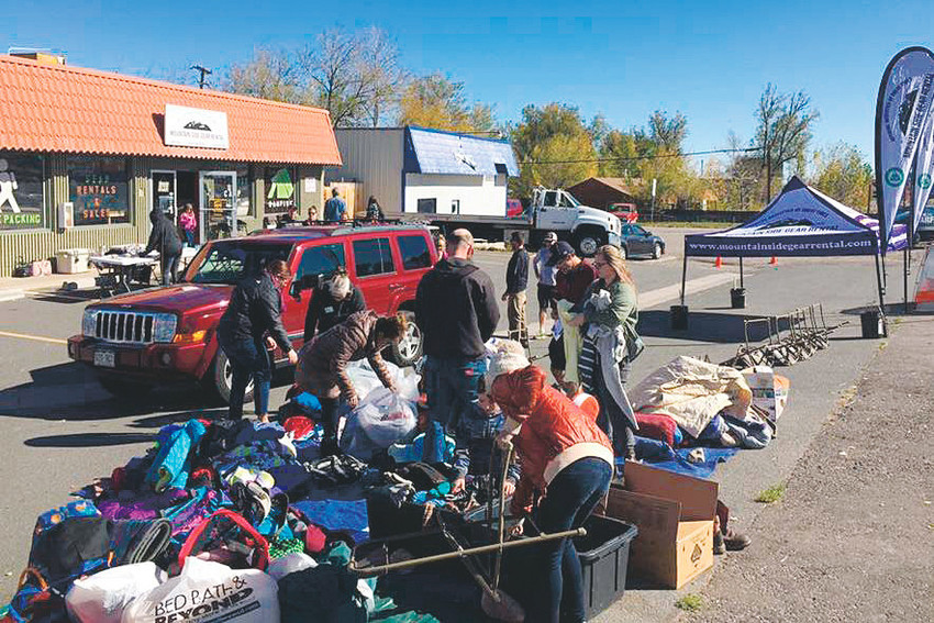 Hundreds of items were donated for Mountain Side Gear Rental's inaugural Share the Warmth Gear and Coat Drive, which will benefit Heading Home. The event took place on Oct. 21.