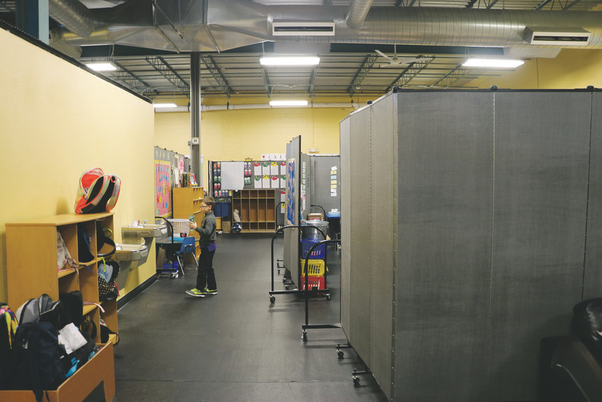 Kingsway Academy, a private Christian school in Castle Rock, still has work to be done. Permanent walls will replace dividers next summer, which will add three or four classrooms, the school's director said.