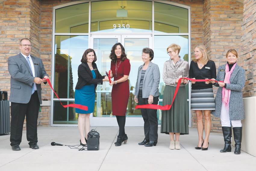 Leaders of Douglas County School District and the city of Lone Tree celebrate the grand opening of Douglas County Opportunities Center, 9350 Teddy Lane, in Lone Tree. The building will house the district's Eagle Academy High School, Bridge Program and an Early Childhood Center Child Find team.