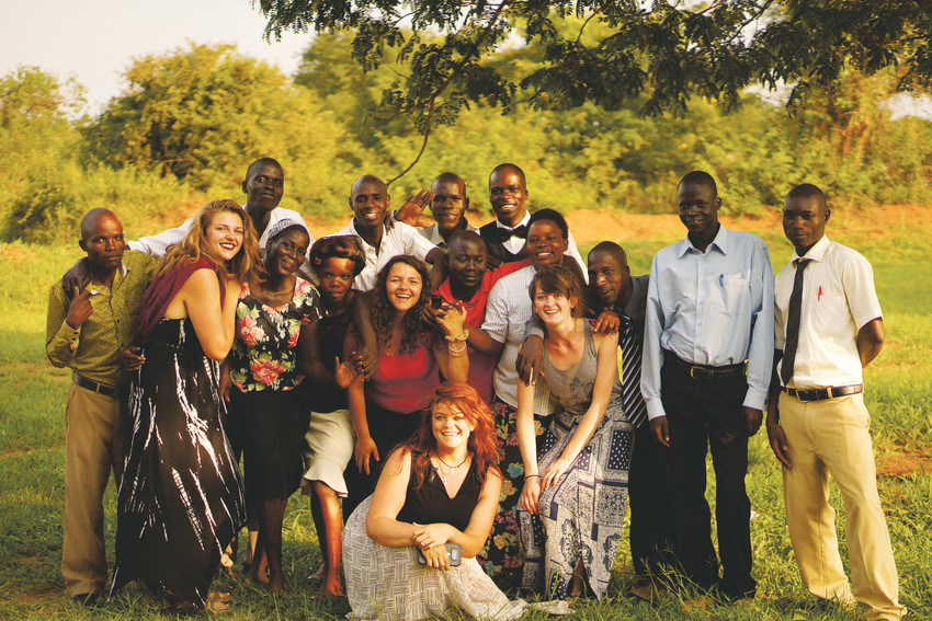 Lakewood High School graduates with some of the teachers at the Global Leaders Primary School in Uganda. The high school has worked hard to support the efforts of Far Away Friends since its inception.