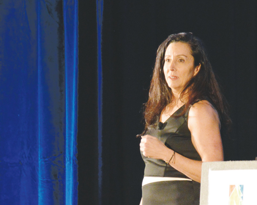 Entrepreneur and business consultant Tamara Kleinberg urged Northglenn businesses to embrace their own limitations and innovate in their own way at a Northglenn business awards breakfast Oct. 27. Kleinberg, an author and podcaster, was the keynote speaker.