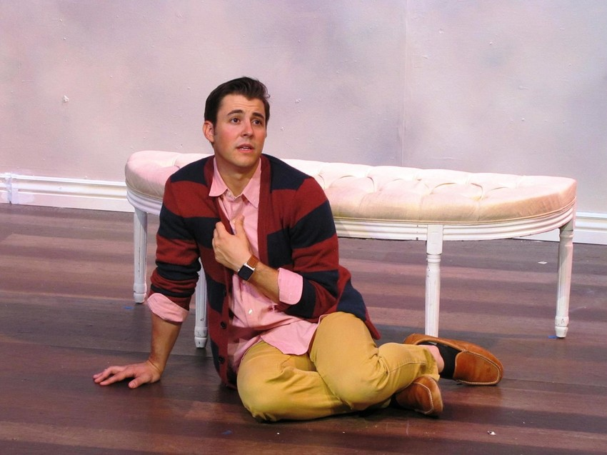 "John Hauser performs especially well in ""Buyer and Cellar,"" a tale of fame and fortune (Barbra Streisand's possessions)."