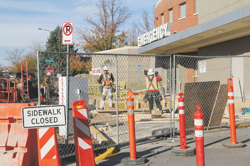 Construction underway at the emergency department at Swedish Medical Center Nov. 2. The department, also referred to as the emergency room, is being renovated for the first time since 1990.
