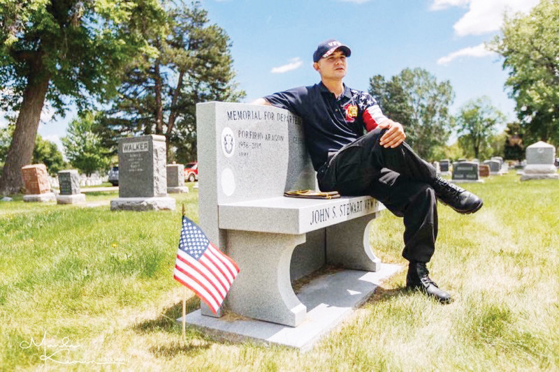 Freddie Sprankel, a United States Army veteran, sits at Fairmount Cemetery in Denver. Sprankel, 34, was homeless in the Denver metro area after returning to civilian life in 2012.