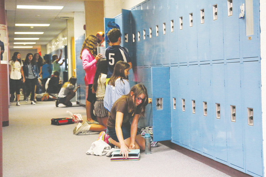 One thing new for sixth grade students at middle school is lockers. At Bell Middle in Golden all sixth grade lockers are in the same hallway.