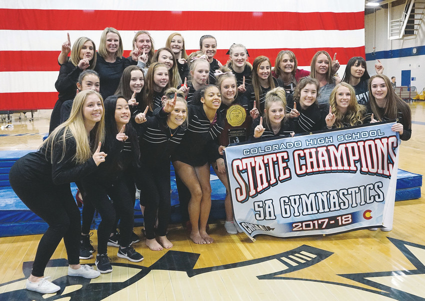 Pomona won its third straight Class 5A gymnastics state team title Nov. 1 at Thornton High School. Pomona is the first Jeffco gymnastics program to 3-peat since Bear Creek gymnastics won four straight in the 1970s.