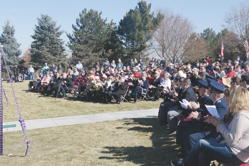 About 500 men, women and children attended the Nov. 11 Veterans Day Ceremonies at Fort Logan National Cemetery. The ceremony is held each year on the date of the signing of the Armistice ending World War I on 11th hour of 11 th day of the 11 th in 1918.