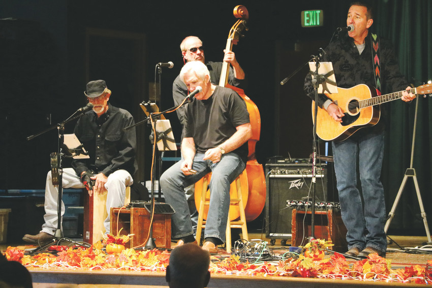 The Home Brood Band performs classics by Bob Dylan, the Eagles, Jimmu Buffet and others at the Nov. 8 senior luncheon at Southridge Recreation Center, 4800 McArthur Ranch Rd. About 160 seniors in the community attended.