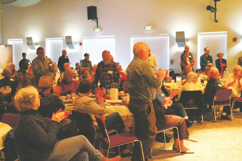 Veterans were asked to stand at a November luncheon for members of the Highlands Ranch Senior Club at Southridge Recreation Center, 4800 McArthur Ranch Rd. The monthly happening was the largest yet, said the club's president Ron Winter.
