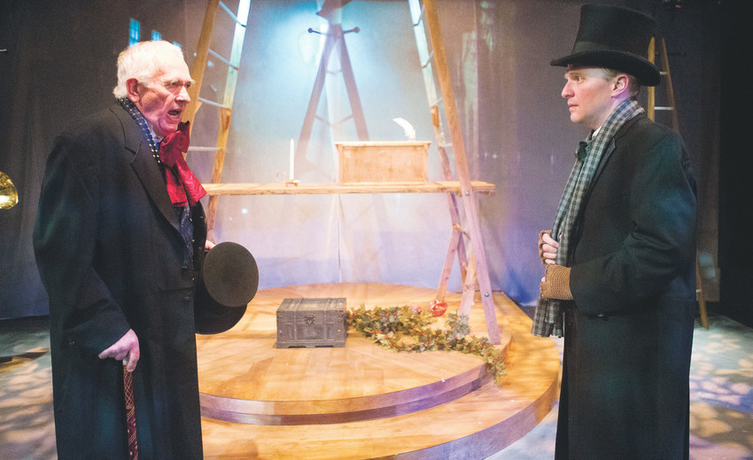 "Jim Hunt plays Scrooge, and Josh Hartwell is both an actor and the playwright behind ""A Christmas Carol"" at Golden's Miners Alley Playhouse."
