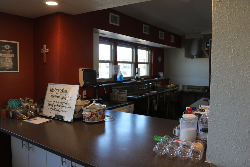 The kitchen at Marisol Homes' facility in Lakewood. Mothers and children who are staying at the facility are provided breakfast and lunch, and dinners are donated by volunteers.