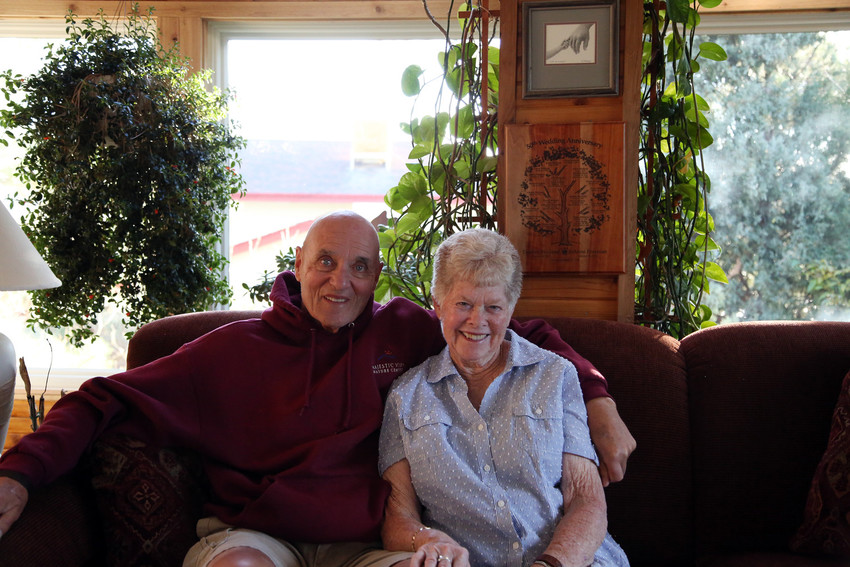 Dudley and Judy Weiland have been married 62 years.