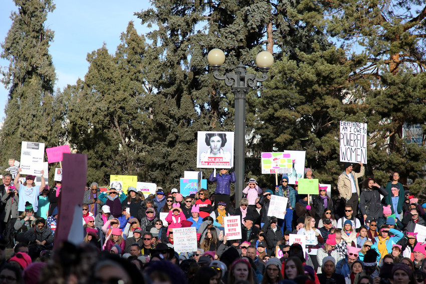 More than 50,000 people marched to stand up for their sisters, mothers, grandmothers, and daughters –- along with the rights they feel they deserve.
