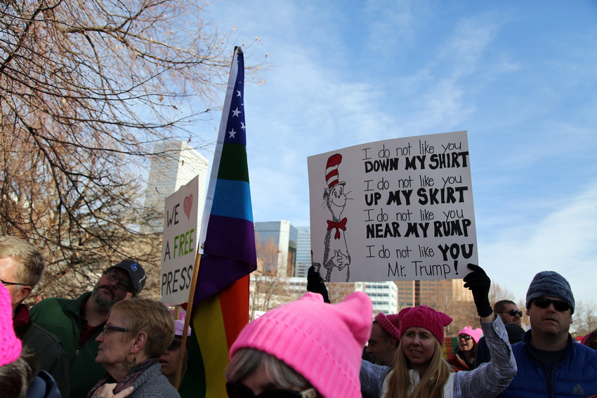 The sexual exploitation of women was one the the most protested issues at the Women's March in Denver.