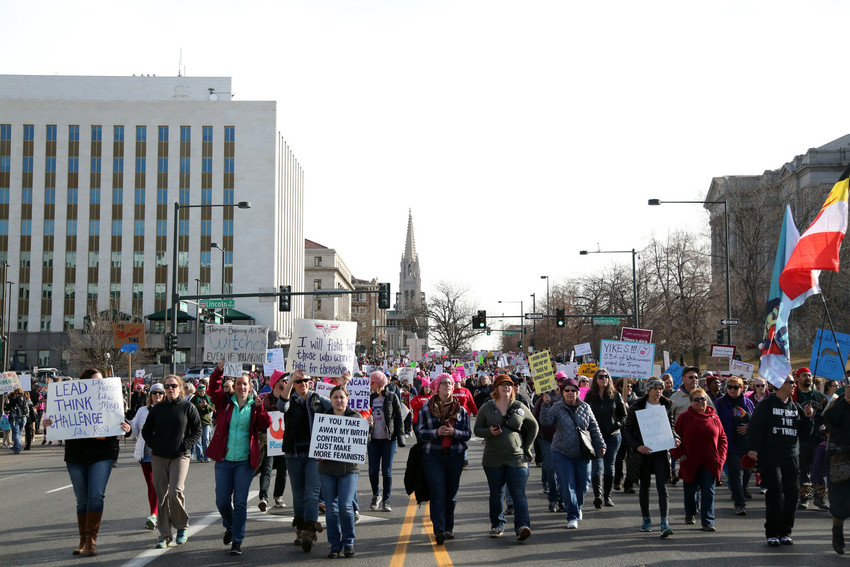The march is part of a nationwide movement for women's rights and equality