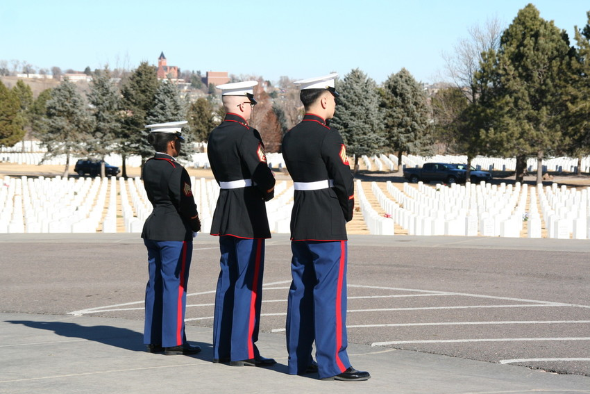 The military service for Marine Sgt. Max Brown of Arvada, the afternoon of Jan. 11