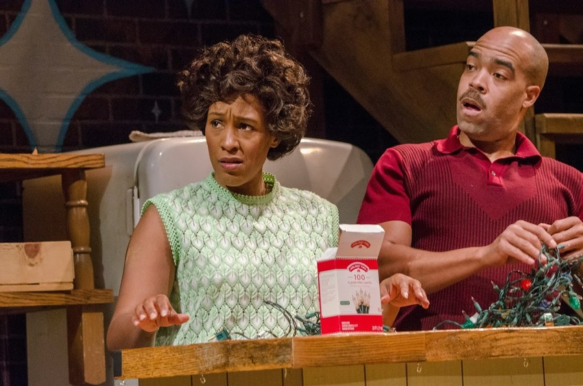 "Jada Sozanne Dixon and Cajardo Lindsey play siblings Chelle and Lank in Curious Theatre's ""Detroit '67,"" a memory tale of urban unrest during the riots in Detroit just over 50 years ago."
