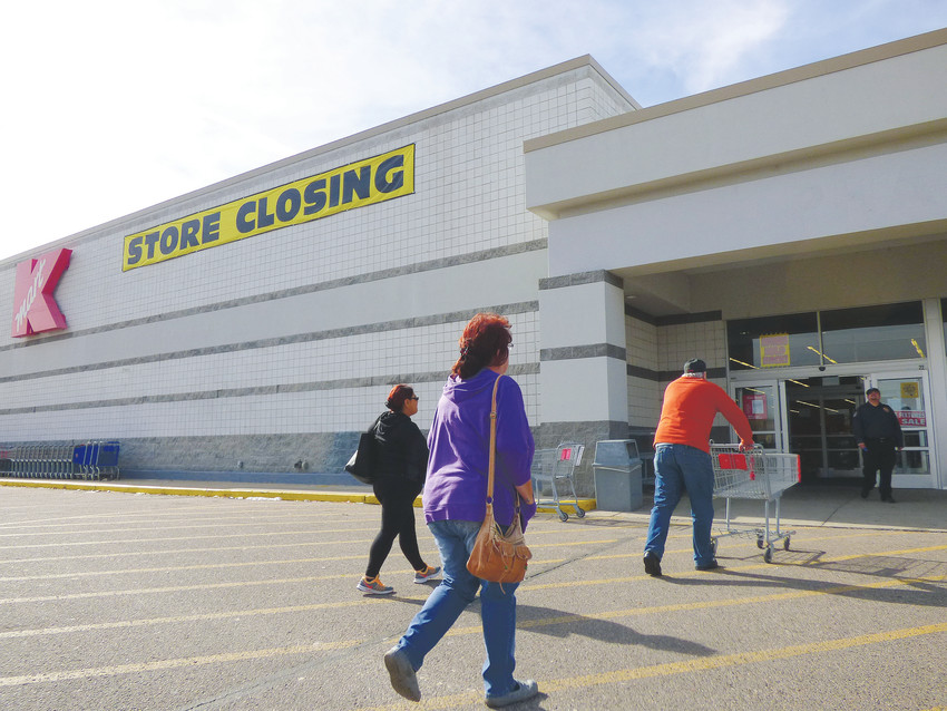 Shoppers visit Englewood's Kmart on one of its final days.