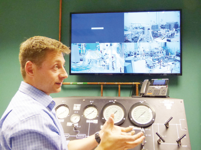 Assembly test and operations manager Scott Daniels discusses the vacuum testing process used to seal InSight's seismometer.